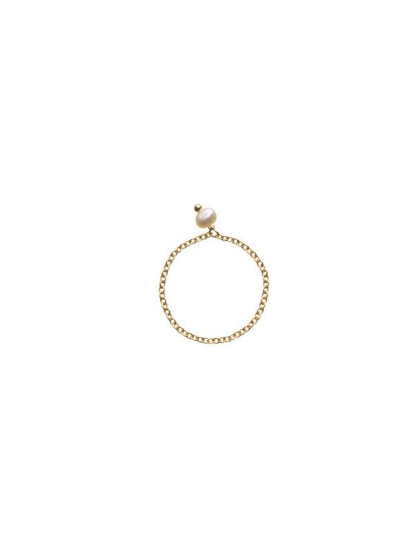 Anello Déco con perla di fiume - Nianì