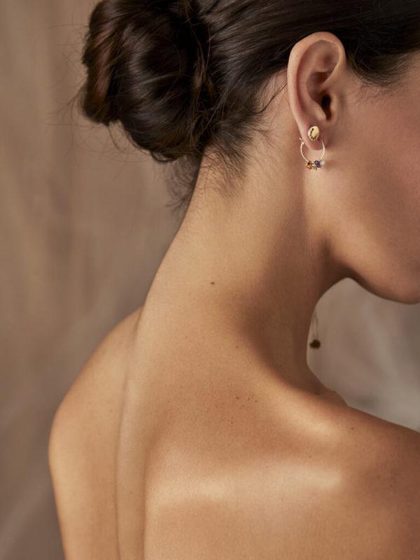 7 Chakra Mono hoop earring - Nianì