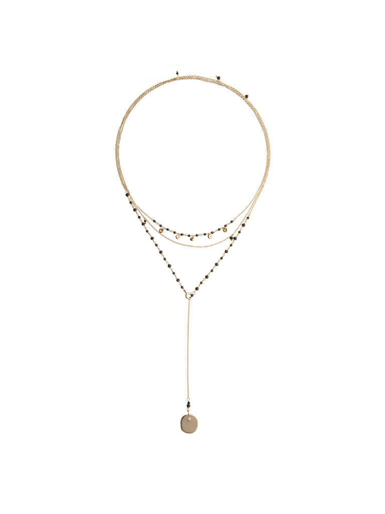 Ana black necklace